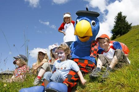 Für Kindern und Familien Camping Pradafenz empfiehlt Globi Wanderweg Lenzerheide , Graubünden, Schweiz