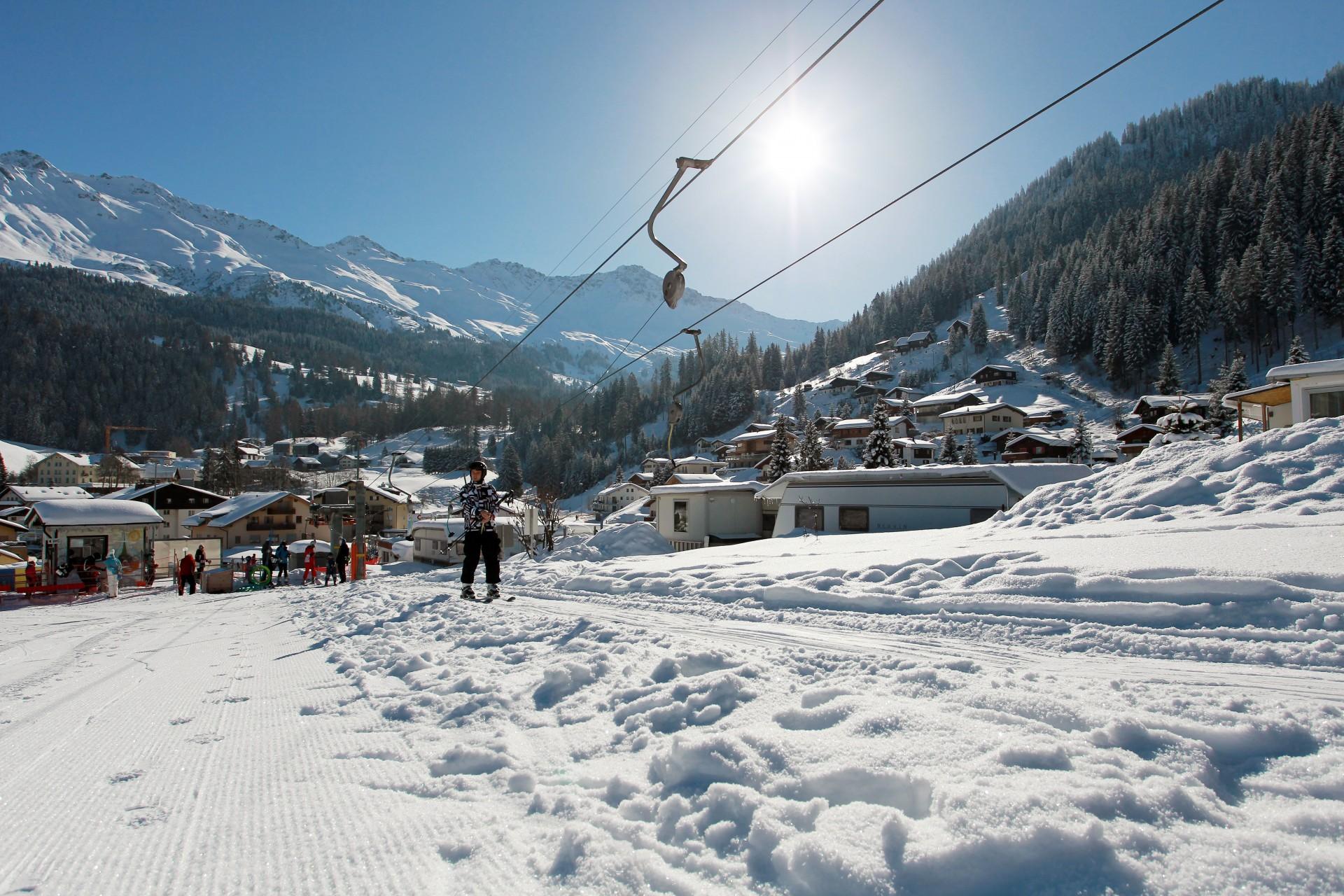 Skilift Pradafenz Churwalden und Campingplatz Pradafenz