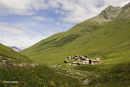 Camping Pradafenz empfiehlt Avers - Juf, höchstgelegene, ganzjährig bewohnte Dorf Europas, Graubünden, Schweiz
