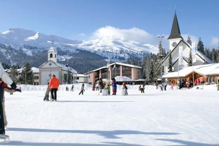 Camping Pradafenz empfiehlt Natureisfeld Lenzerheide, Graubünden, Schweiz