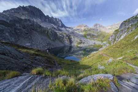 Camping Pradafenz empfiehlt Tomasee Rheinquelle, Graubünden, Schweiz
