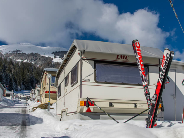 Ski Camping Pradafenz Churwalden Graubünden Schweiz im Winter