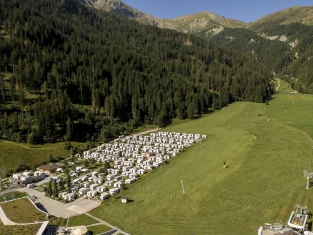 Camping Pradafenz Churwalden Graubünden Schweiz Sommer