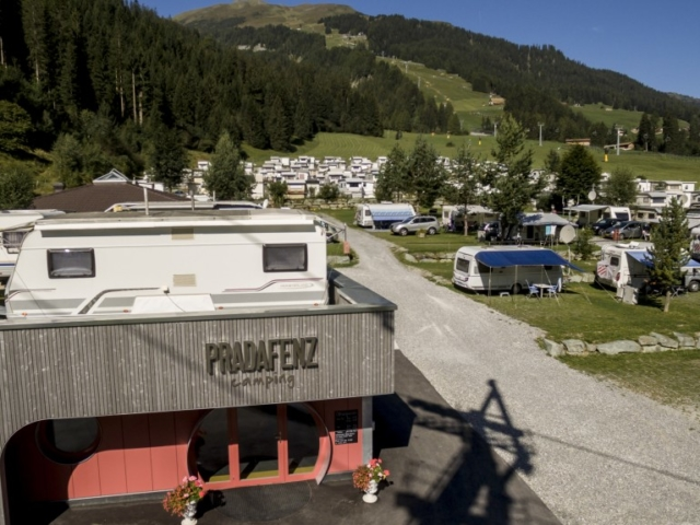 Camping Pradafenz Churwalden Graubünden Schweiz im Sommer