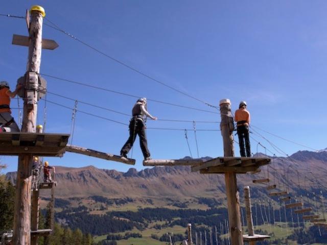 Camping Pradafenz empfiehlt Seilpark Pradaschier Churwalden Graubünden Schweiz